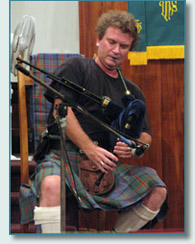 Hamish Burgess on Scottish smallpipes at The Ka'iulani Project Lahaina