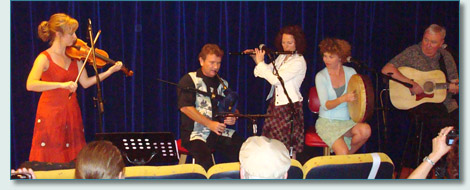 Hanneke Cassel, Hamish Burgess, Shannon Heaton, Aoife Clancy and Robbie O'Connell - Irish Music Cruise 2009