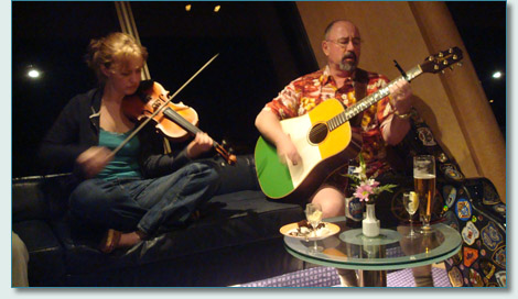 Hanneke Cassel and Seamus Kennedy on the Irish Music Cruise 2009