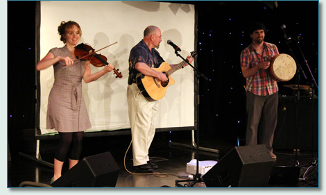 Hanneke Cassel, Seamus Kennedy and Mairtin De Cogain on the Irish Music Cruise 2012