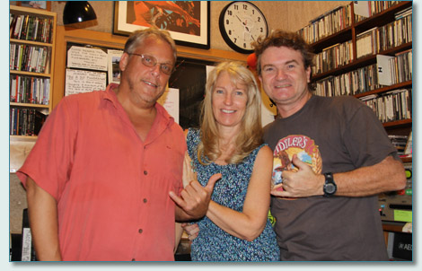 Michael Riedel, Jennifer Fahrni and Hamish Burges on the Hogmanay/New Year Maui Celtic Radio Show on Manao Radio, Maui, Hawaii
