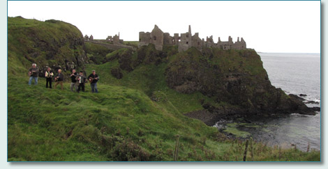 The Irish Rovers at Dunluce Castle, Co.Antrim, September 2010