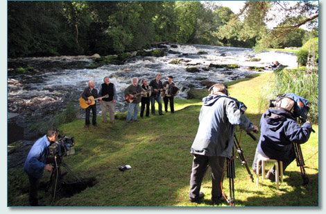 The Irish Rovers film-shoot at Galgorm Manor, on the River Maine, Co.Antrim - filmed by Red Box Media Productions