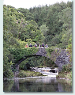 The Irish Rovers film-shoot at Glenarm River, the Glens of Antrim, September 2010