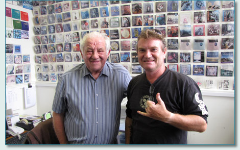 Ian Green and Hamish Burgess at Greentrax Records, Cockenzie, Scotland - August 2010