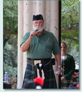 Ian Laing at the Hawaiian Scottish Festival, Waikiki, April 2013