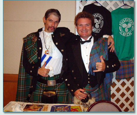 Ian Wilson and Hamish Burgess, Dressed to the Kilt on Oahu 2008