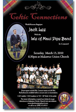 Isle of Maui Pipeband present Jack Lee in concert