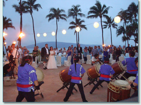 Jason & Alison Wolford's wedding with Zenshin Daiko Drummers