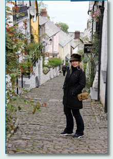 Jennifer Fahrni in Clovelly, North Devon
