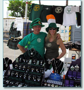 Jim MacIntosh and Jennifer at the Maui Celtic booth - March 2010