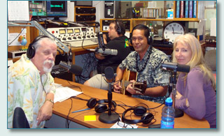 Joel Agnew & Gary at 1110am, with Wilmont Kahaialii and Jenifer Fahrni of the Kaiulani Project