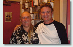 John Crowe and Hamish Burgess at Mana'o Radio