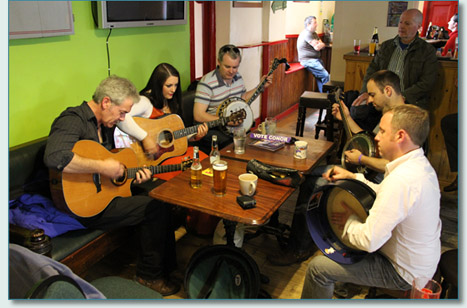 Josie Harrington, Liam Joyce and friends, session in Buncrana for NAFCo 12
