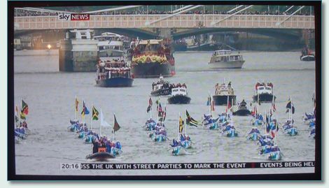 Queen's 60th Jubilee Flotilla on the River Thames