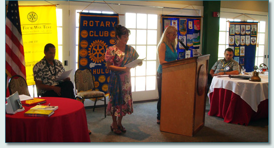 Ka'iulani Project presentation at the Dunes at Maui Lani Rotary Club Luncheon