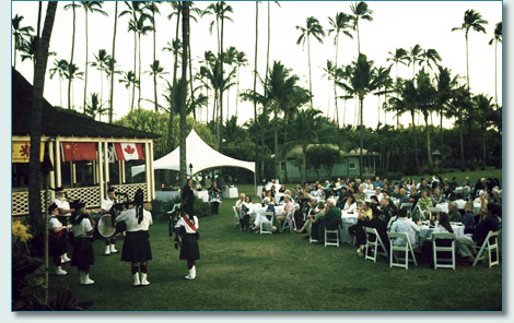 Robert Burns Supper, at the Waimea Plantation Cottages, Kauai 2013