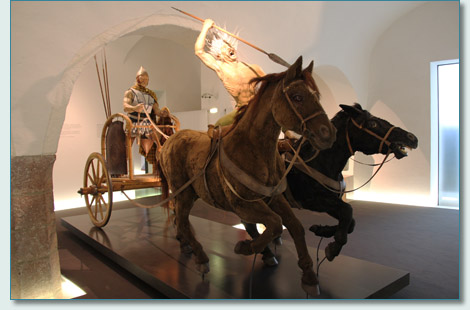 Celtic Chariot Warriors at the Keltenmuseum Hallein, Austria