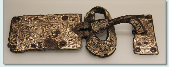 7th century Merovingian belt buckle, Latenium, Neuchatel