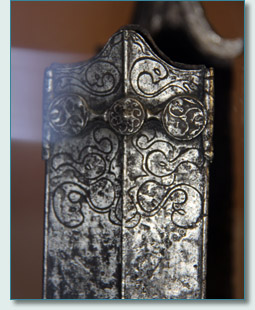 Celtic scabbard with La Tène artwork, at the Latenium