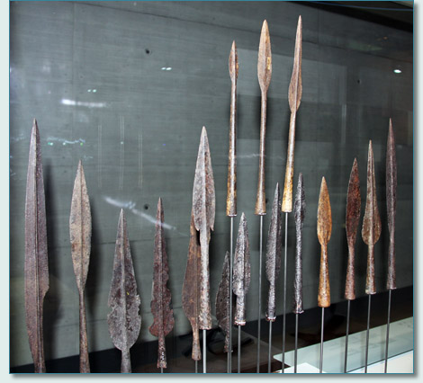 La Tène era Celtic spearheads at the Latenium