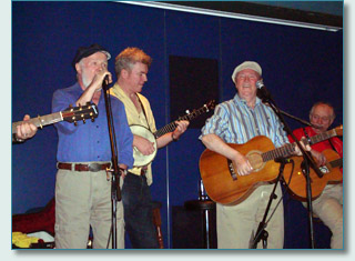 Liam Clancy and Danny Doyle on the Irish Music Cruise to Mexico