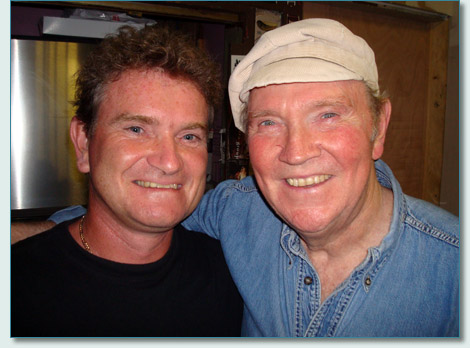 Hamish Burges and the great Liam Clancy