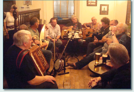 Traditional music session at Lisbarnett House, Lisbane, near Comber, Co.Down