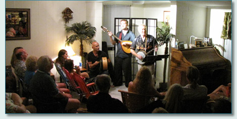 Michael Black & Jon Sanders, with guest Bud Clark, Lahaina house concert November 2010