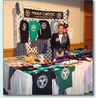 Hamish at the Maui Celtic booth, Dressed to the Kilt, Honolulu '08