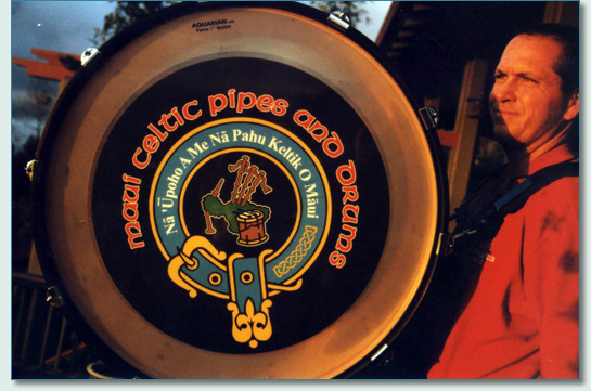 Maui Celtic Pipes and Drums Logo by Hamish Burgess © 2005