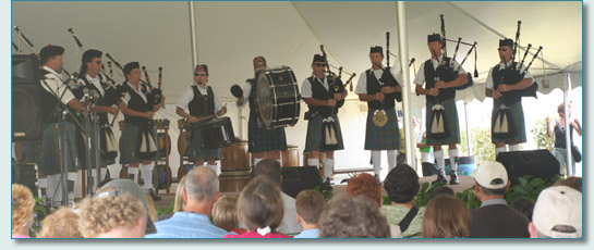 The Maui Celtic Pipes and Drums at the Maui Sugar Plantation Festival 2006