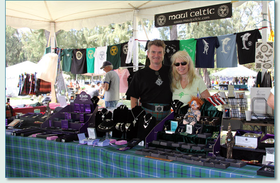 Maui Celtic booth at the Hawaiian Scottish Festival 2012