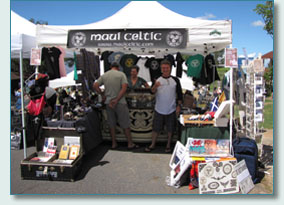 Maui Celtic booth at the Princess Ka'iulani Festival, Kula 2009
