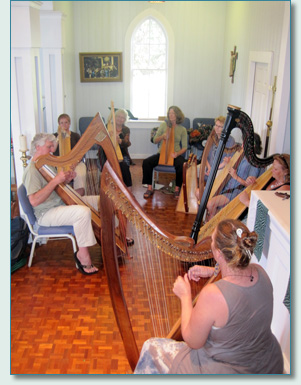 Philip Boulding of Magical Strings, Harp workshop in Kula, Maui, February 2012