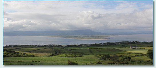 View from Hilltop Lodge across Lough Foyle to Magilligan Point, Co.Derry