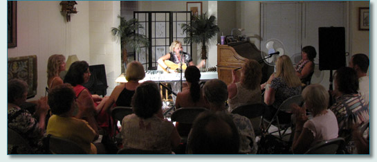 Maree McRae and Linda Hickman house concert, Lahaina June 2010