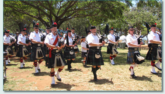 Massed Pipe Bands at the Hawaiian Scottish Festival & Highland Games 2010