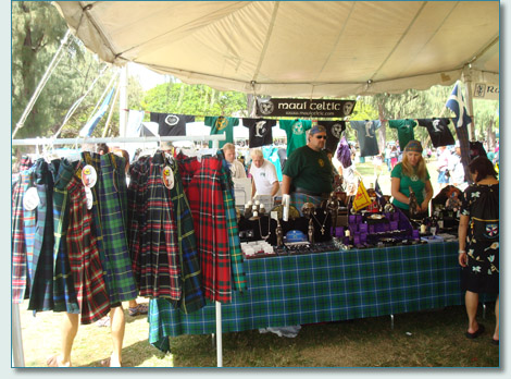 Maui Celtic booth