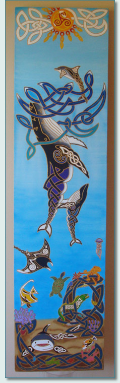 'Maui Celtic Ocean' '09 by Hamish Douglas Burgess, Hawaiian Marine Life in a Celtic Style