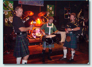Maui Celtic Pipers, Hamish, Roger and Pete, Mulligan's Wailea