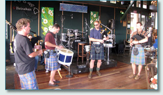 Maui's Piping Highlanders at Mulligans on the Blue, Wailea, Maui