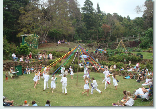 Maypole Dance at the Haleakala Waldorf School, Kula, Maui