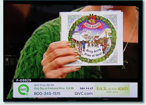Hamish Burgess' artwork on The Irish Rovers' 'Merry Merry Time of Year' CD on the QVC channel