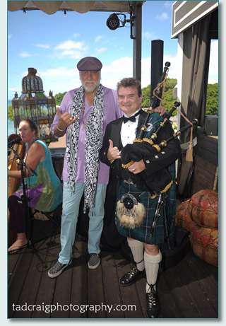 Mick Fleetwood and Hamish Burgess at Fleetwoods on Front St, Lahaina, Maui