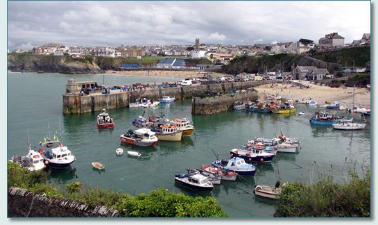 Newquay Harbour and Towan Beach, Cornwall