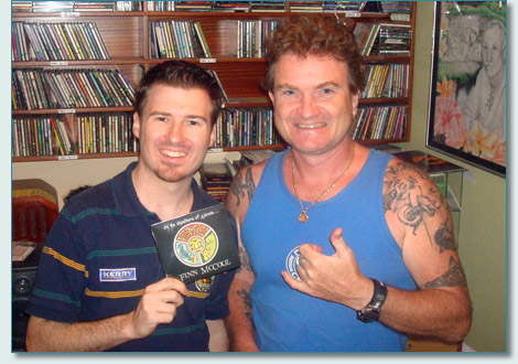 Peter Della Croce and Hamish Burgess at Manma'o Radio Studios, Wailuku, Maui - May 2010