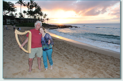 Pam & Philip Boulding of Magical Strings in Napili, February 2013