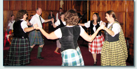 Royal Scottish Country Dance Society of Hawaii performing at the Princess Ka'iulani Memorial, Mauna 'Ala Roayal Mausoleum, Nuuanu Valley. April 2010