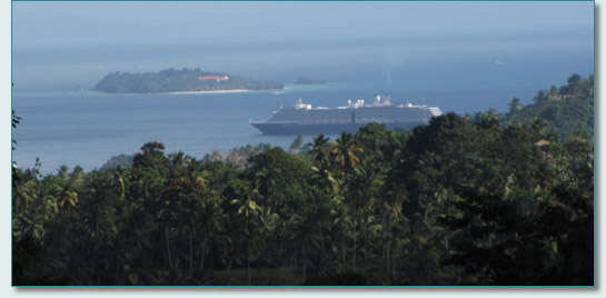 M.S. Noordam anchored off Semana, Dominincan Republic
